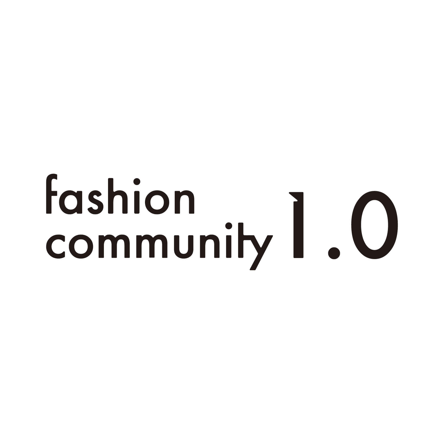 fashion community1.0のロゴ写真