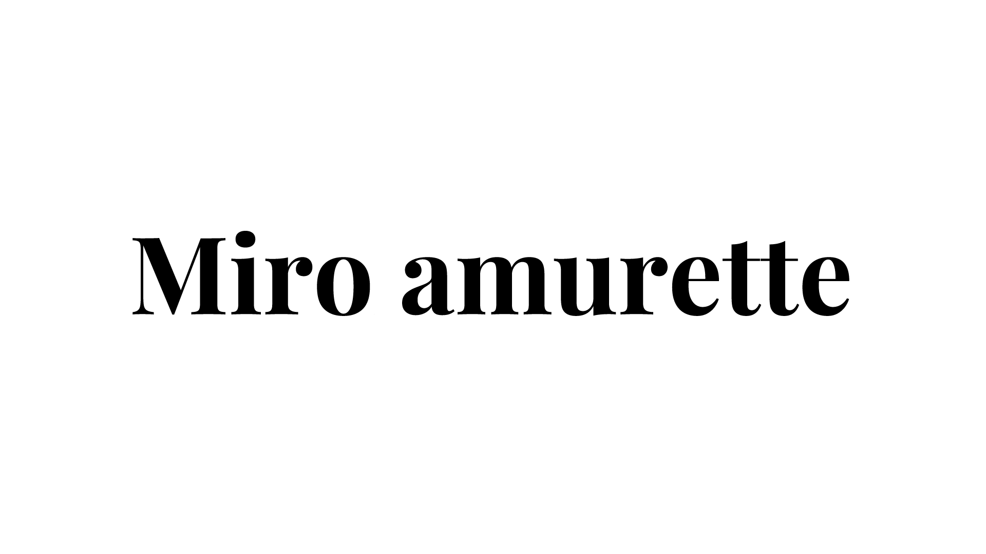 MD募集!SNS発D2Cブランド<Miro amurette>のカバー写真